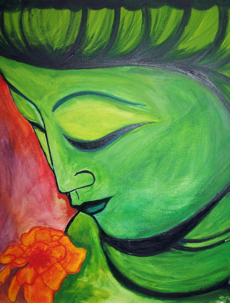Green Buddha by michy0110