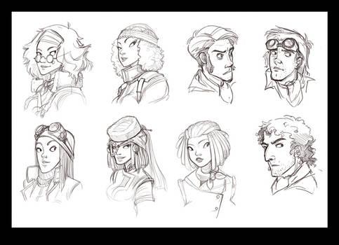 Protagonist sketches