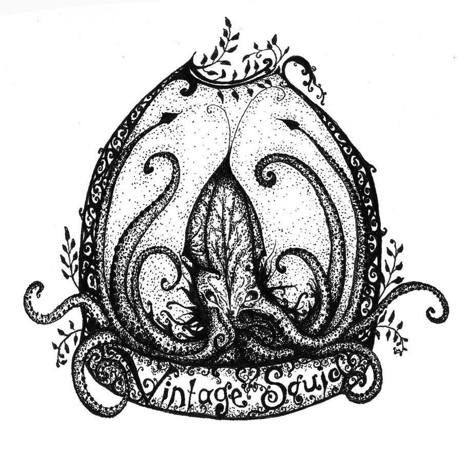 Vintage Squid by FunnyLittleBirds