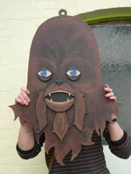Large Chewbacca Head Painting