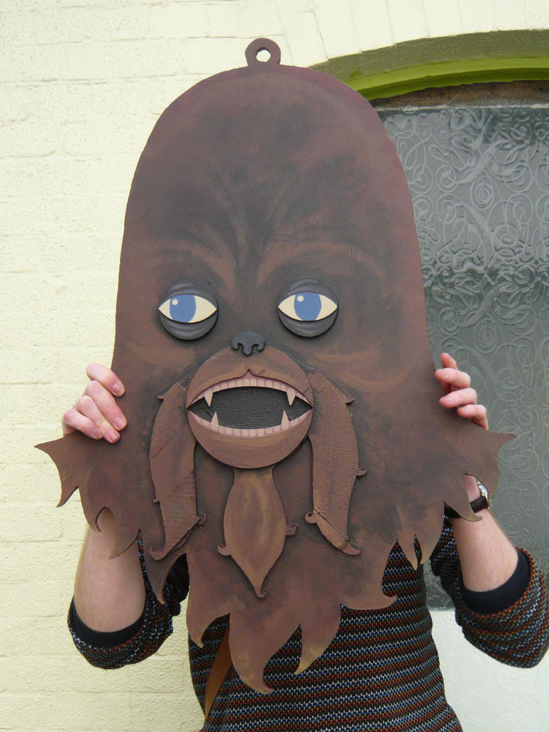 Large Chewbacca Head Painting by benjaminography