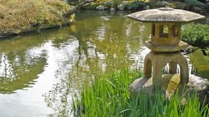 Stone Lantern in Japan Garden