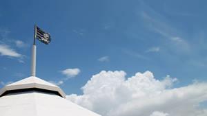 Pirate Flag in Puerto Rican Skies