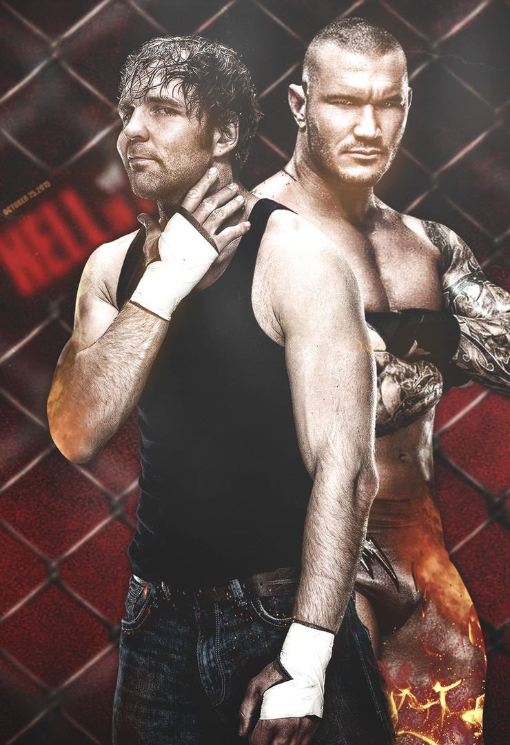 Hell In A Cell 2015 Poster v2. Ambrose and Orton. by ByBREDI