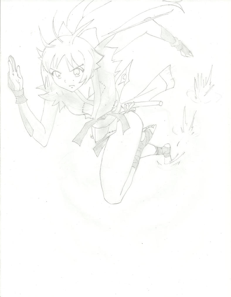 Michiko, Ninja GIrl by chawchaw