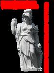Pre-Cut Athena Or Minerva Statue