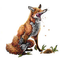 Sketchbook.03 -  Hungry Fox by Bluepisces97