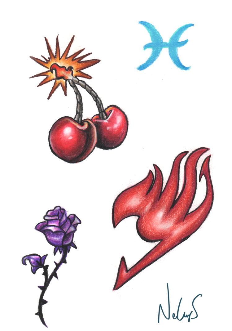 Tattoo designs by bluepisces97 on deviantart for Cherry bomb tattoo parlor perth