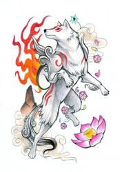 Okami tattoo design