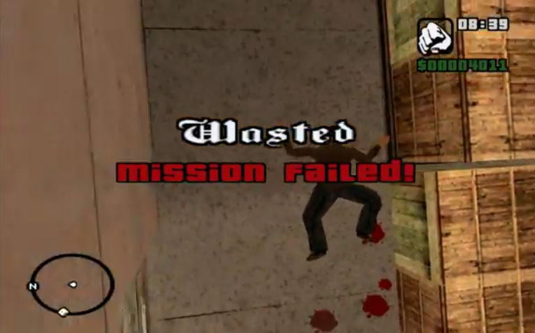 GTA San Andreas Wasted Failed by Quintuple97 on DeviantArt