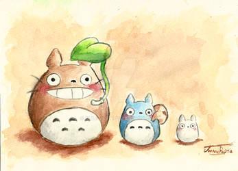 Little Totoros by Chibi-Joey