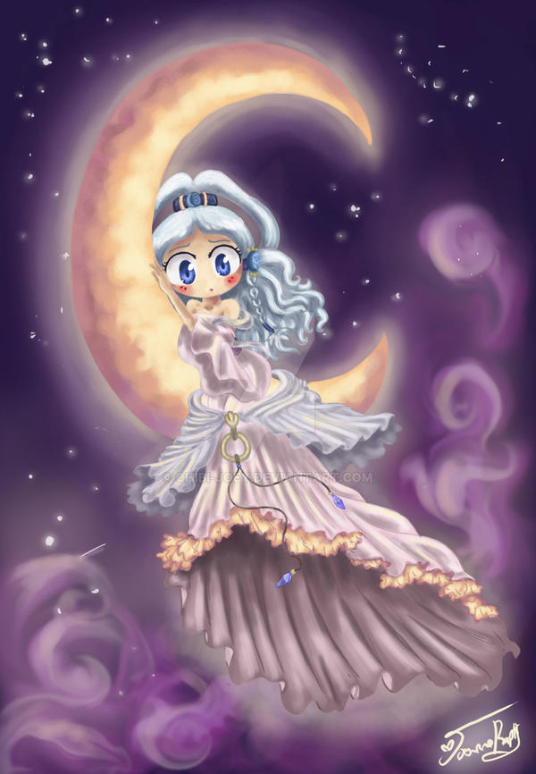 Lonely Little Moon Spirit by Chibi-Joey