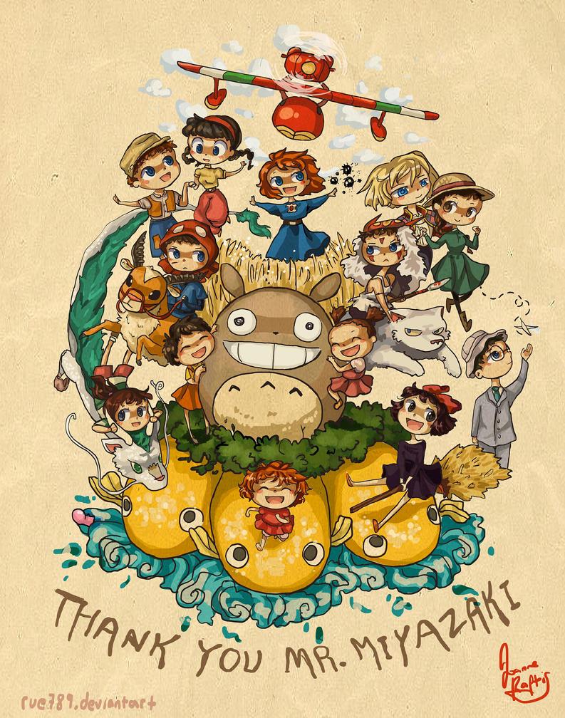 Thank you Mr. Miyazaki by rue789