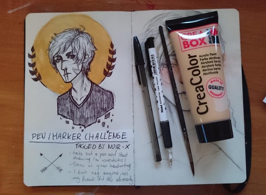 pen challenge by Ajgiel