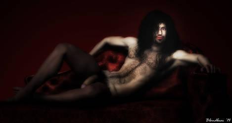 Josh Portrait of a Vampire 3 by Blondbear1