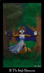 The Vulpine Tarot - II The High Priestess by Mabon-Tail