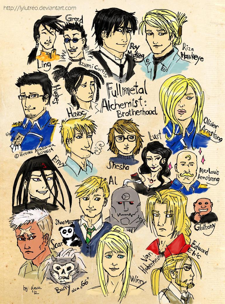 FullMetal Alchemist: Brotherhood - 21 characters by byLau ...
