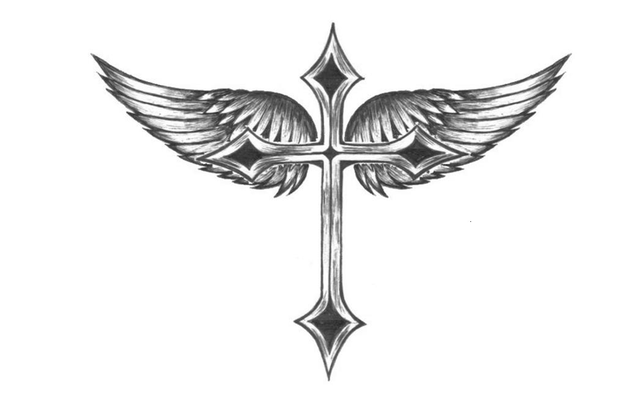 cross with wings by missrill on DeviantArt
