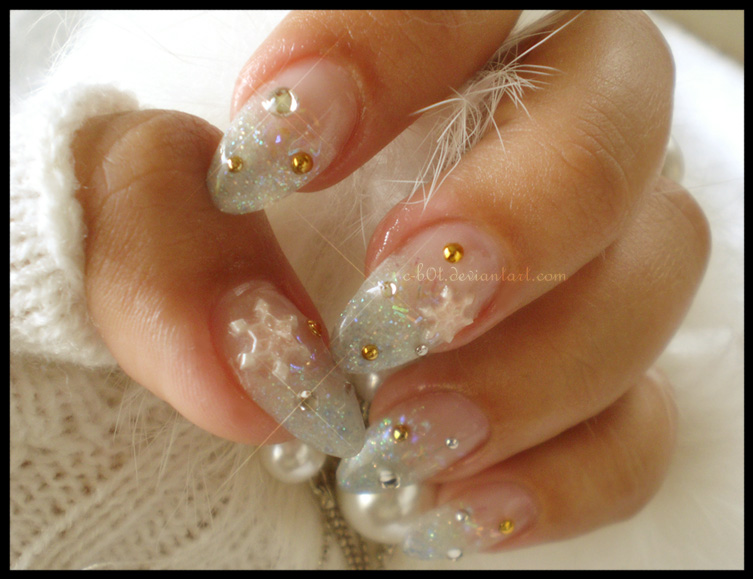 Snowy Nails
