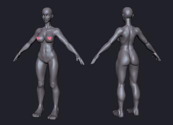 Full Body Sculpt Attempt by CandyRobot