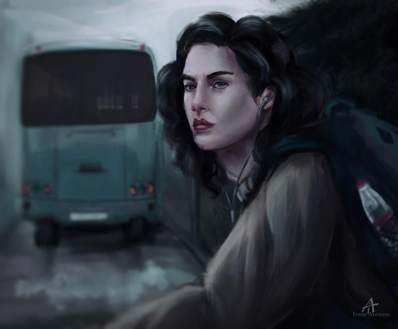 Foggy road by ivanaanemon
