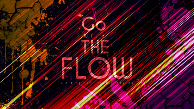 Go With The Flow Font Design