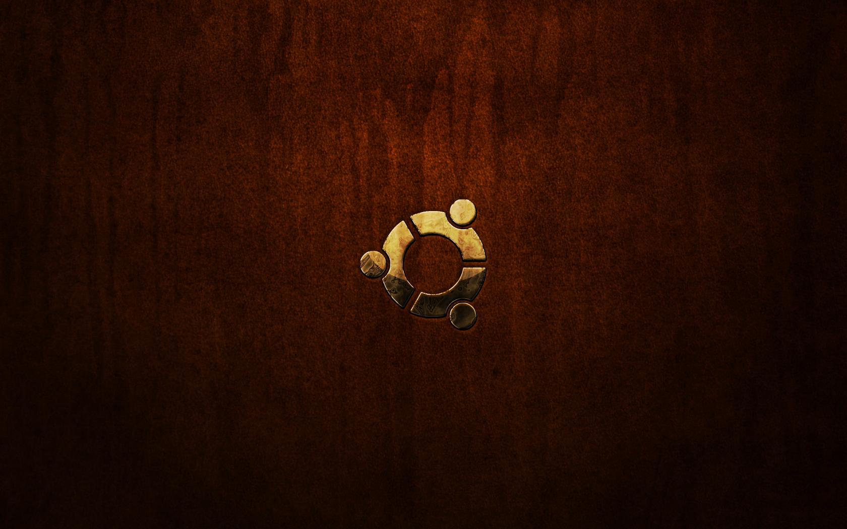 Ubuntu Brown leather distress by monkeymagico