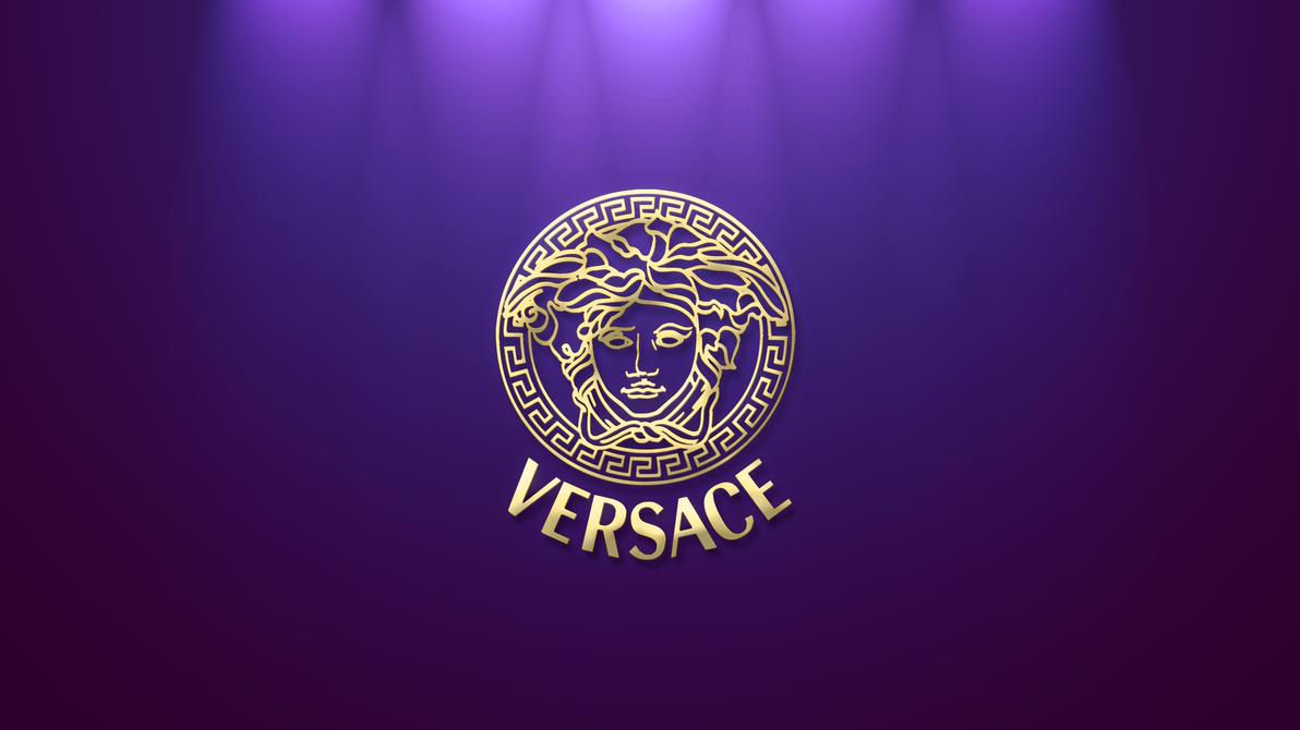 Versace logo wallpaper gold