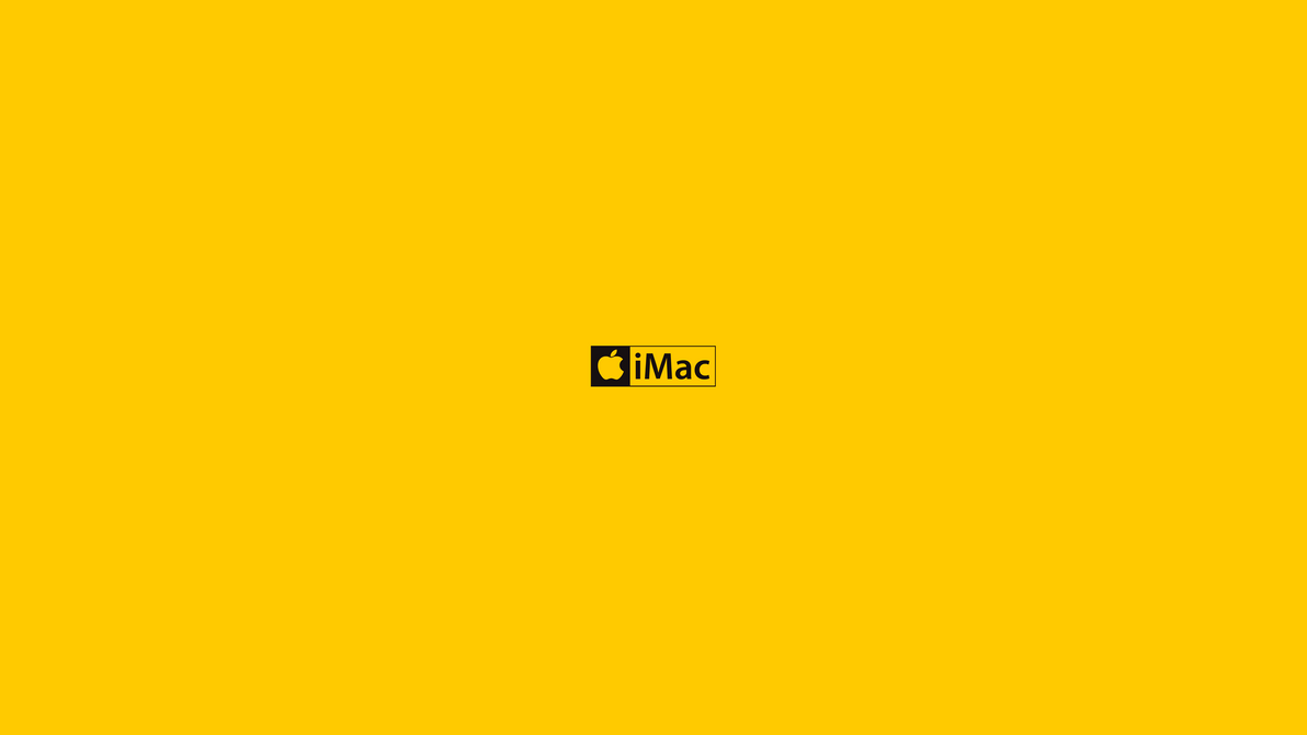 Black and Yellow iMac by monkeymagico
