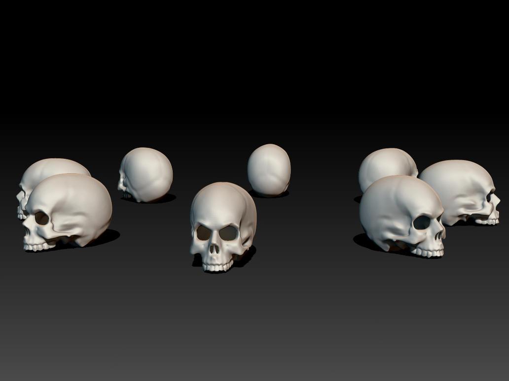 Skull Array by monkeymagico