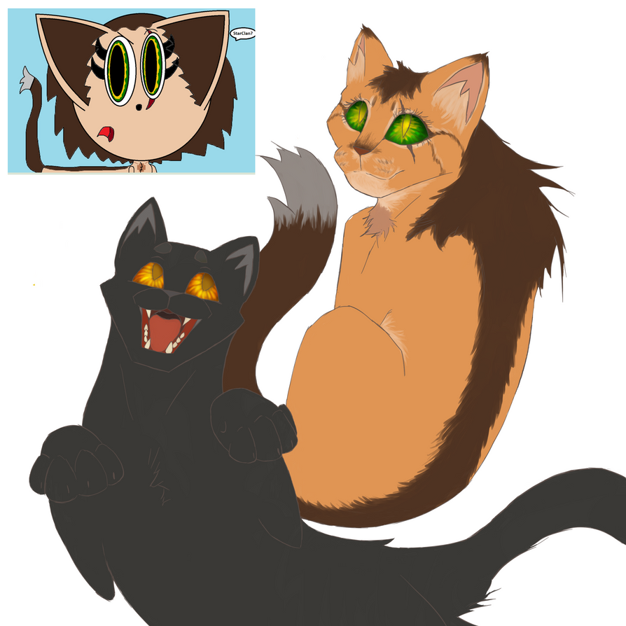Request Progress: Goldenpaw and Shadowpelt by PelliFeathers