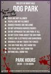 Night Vale - Dog Park Sign