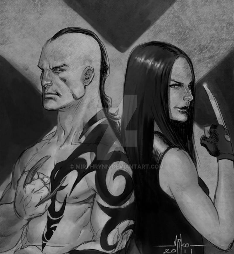 Daken and Laura by Mirthrynn