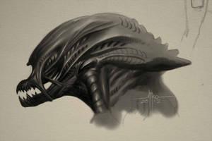 Xenomorph concept sketch by Mirthrynn