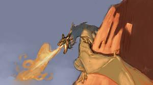 dragon sketch by Mirthrynn