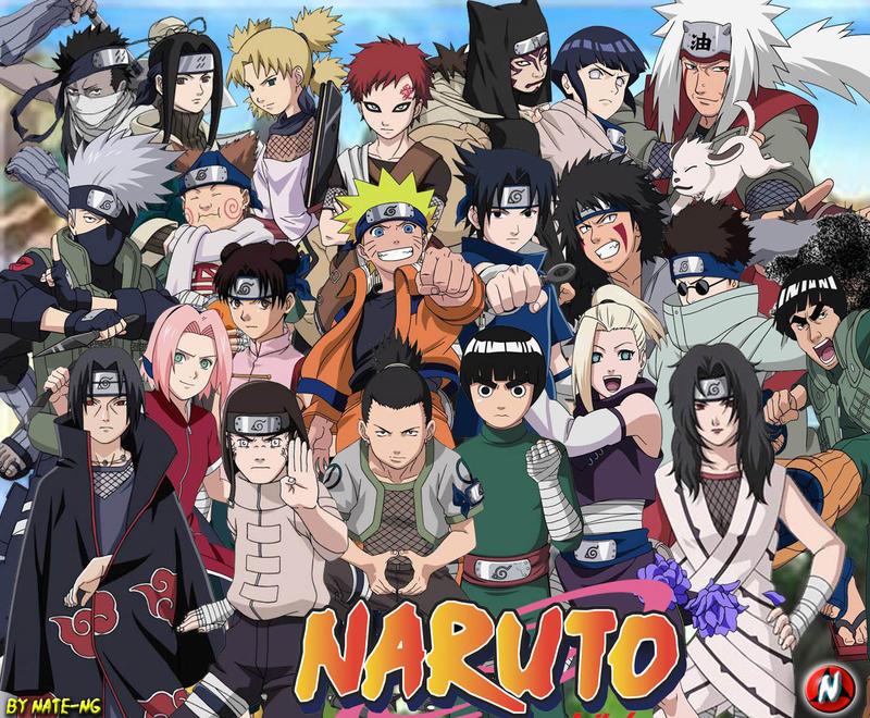 NARUTO CHARACTERS By NATE NG