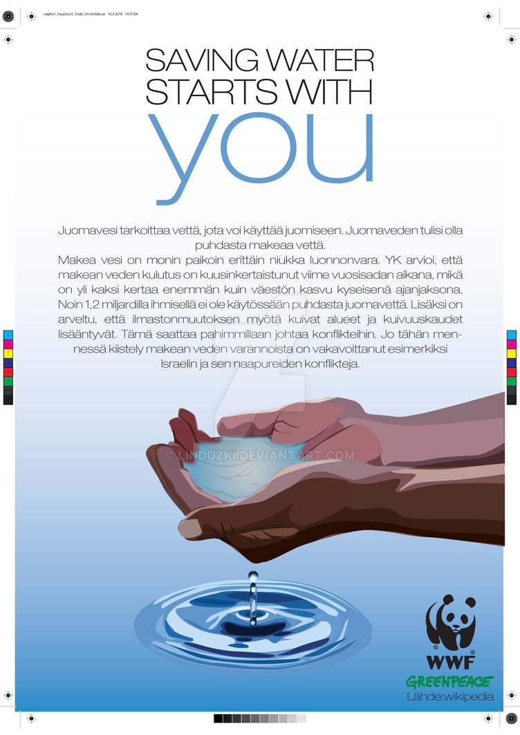 save water poster by linduzki on save water poster by linduzki