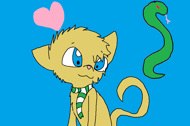Draco Malfoy as a Cat by Imnotgivingup