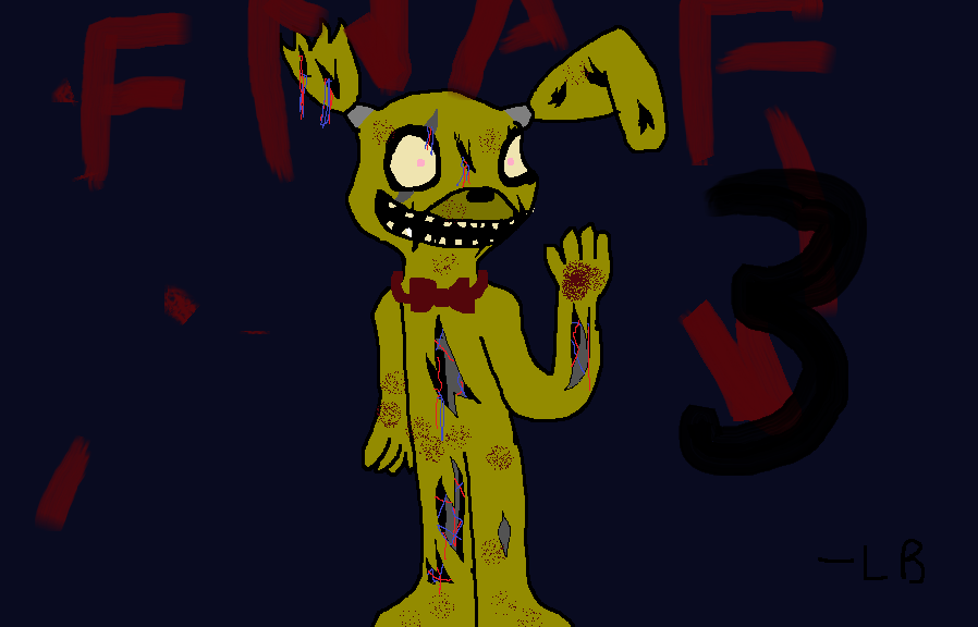 Springtrap Five Nights at Freddy's 3 Fanart by Imnotgivingup