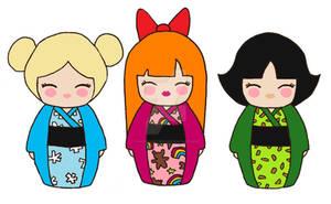 Powerpuff Girls Kokeshi