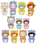 Kokeshi Care Bears + Cousins 2