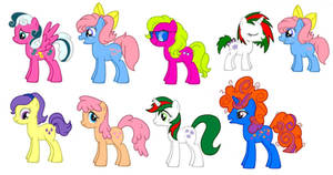 Fim Style G1 My Little Ponies by kaoshoneybun