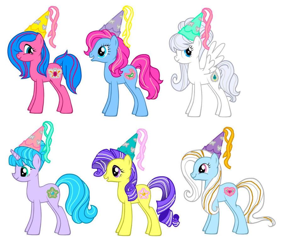 MLP FIM G1 Princess Ponies by kaoshoneybun