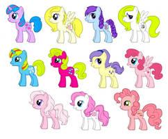 MLP FIM G1 Year 4 Baby Ponies by kaoshoneybun