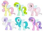 MLP FIM Year 4 Flutter Ponies