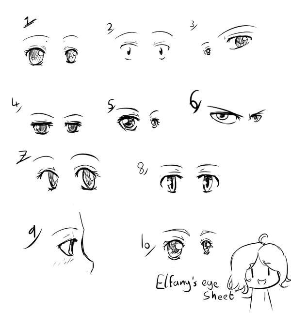 Small Anime Eye Sheet By Elfany Chan