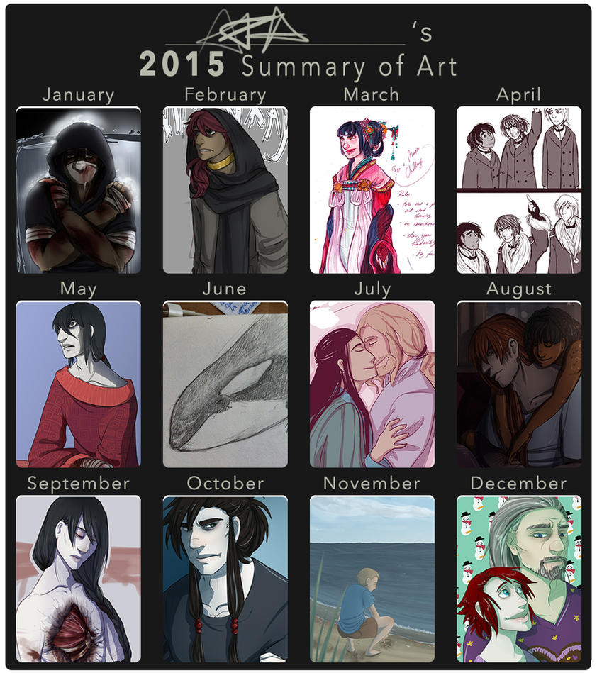 Summary of Art 2015 by AnnieFliesAway