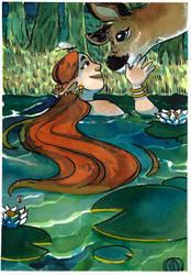 The Pond I by AnnieFliesAway
