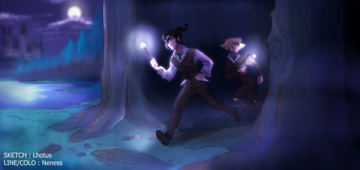||MIAM|| Let's draw HP - COLLAB