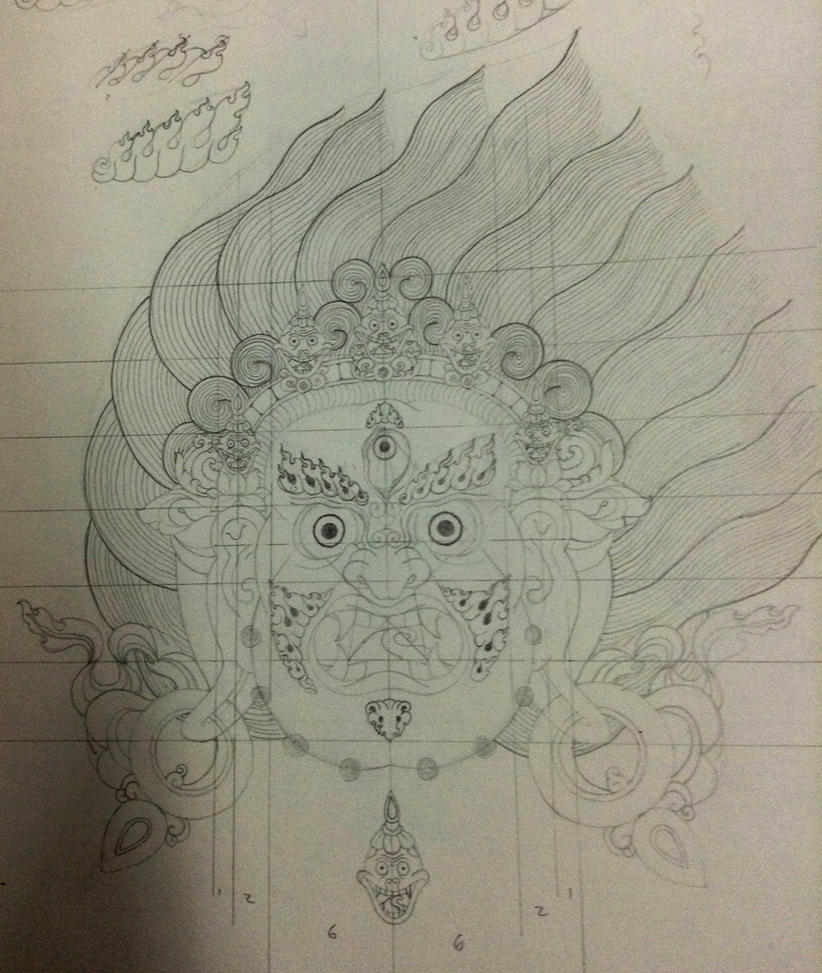 Vajrapani/Mahakala Sketch (face) By Manriquexx On DeviantArt